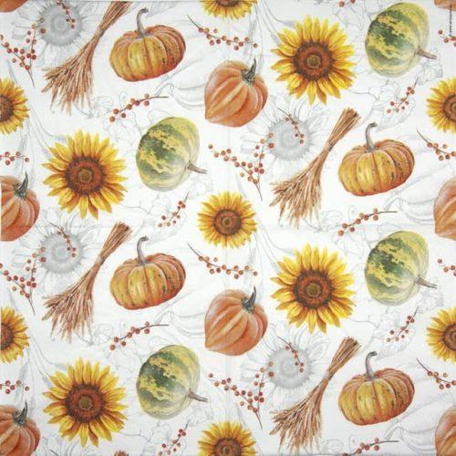 Paper Napkin - Pumpkins & Sunflowers