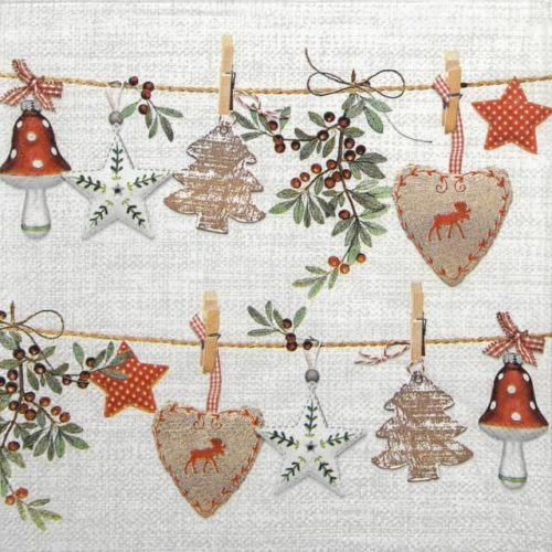 Lunch Napkins (20) - Rustical Christmas