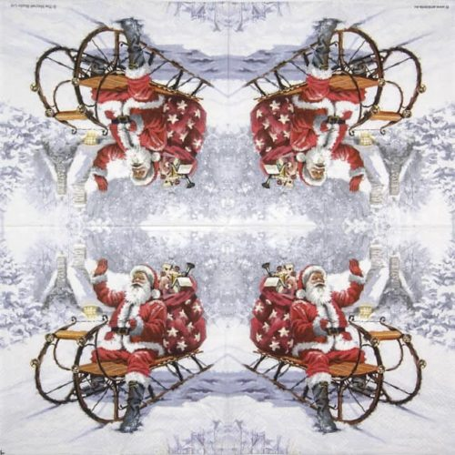 Cocktail Napkins (20) - Santa On Sledge