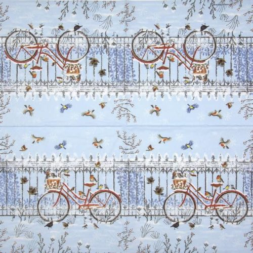 Lunch Napkins (20) - Snowy Bicycle