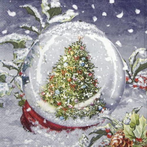 Lunch Napkins (20) - Tree in Snowglobe