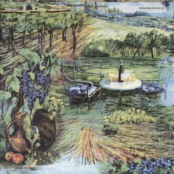 Paper Napkin - Vineyard