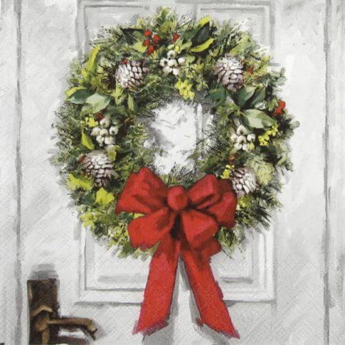 Lunch Napkins (20) - White Wreath