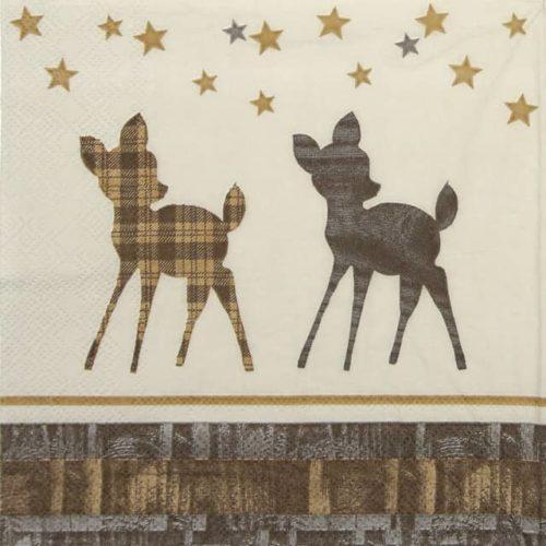 Paper Napkin - Wooden Deer
