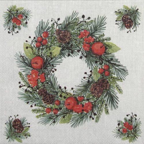 Cocktail Napkins (20) - Wreath On Linen
