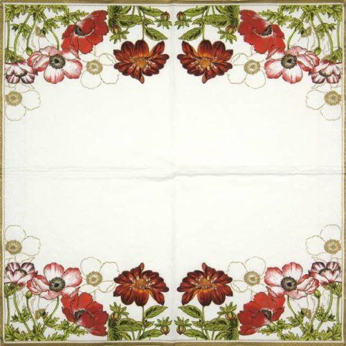 Paper Napkin - Anemones with Georginia