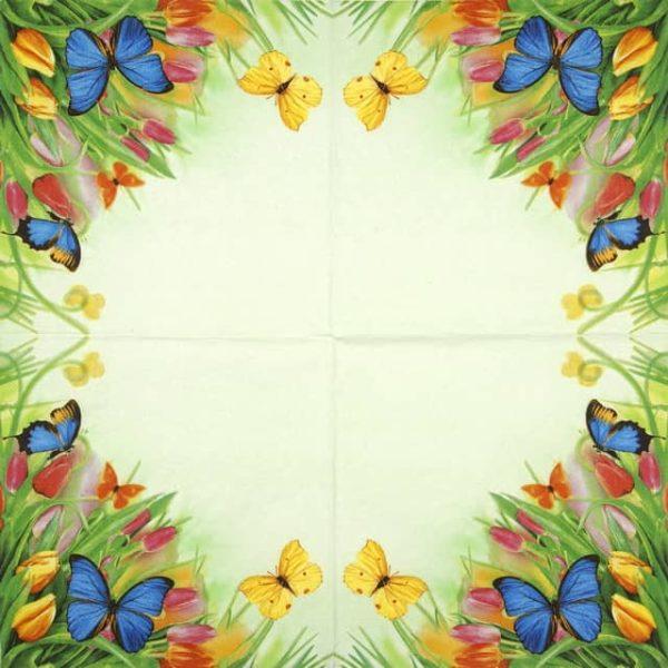 Lunch Napkins (20) - Tulips & Butterflies