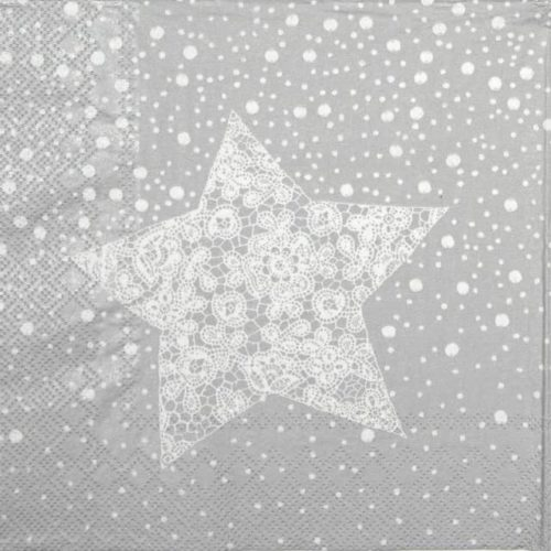 Lunch Napkins (20) - Christmas Lace silver