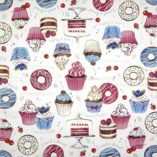 Lunch Napkins (20) - Donuts Love