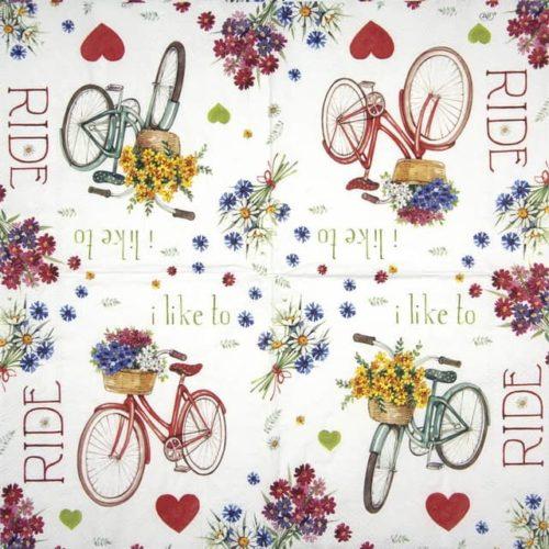 Paper Napkin - I Love My Bike