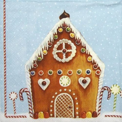 Lunch Napkins (20) - My Sweet House light blue