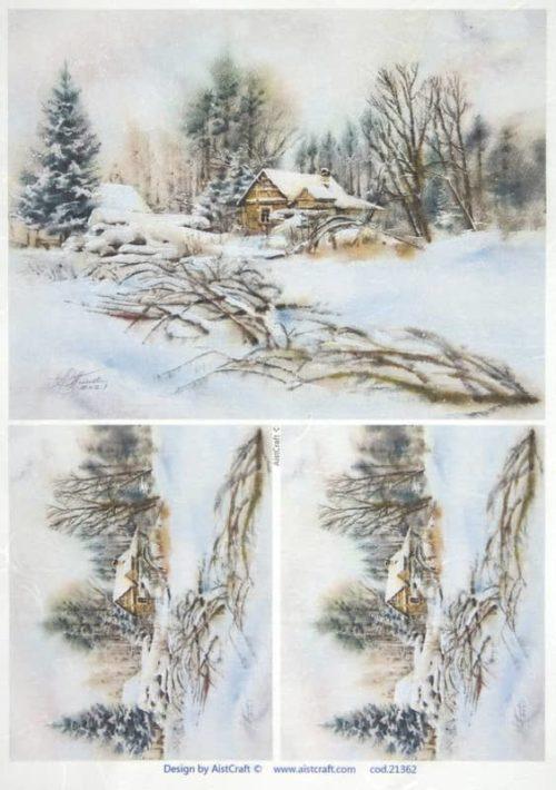Rice Paper - Winter landscape