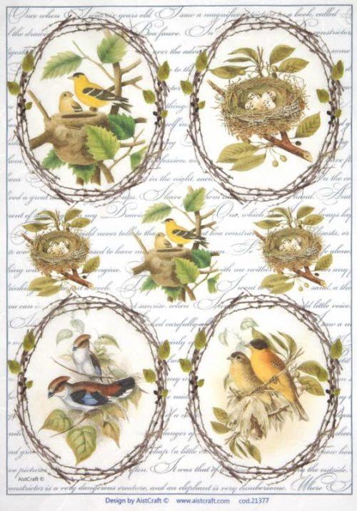 Rice Paper - Yellow birds