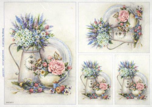 Rice Paper - Flowers in vases
