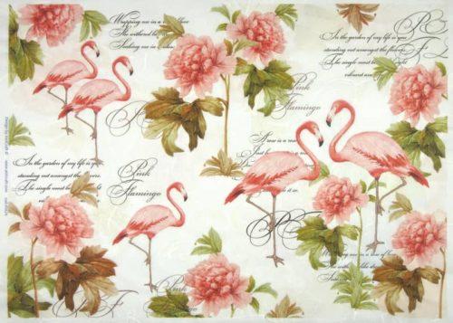 Rice Paper - Flamingos