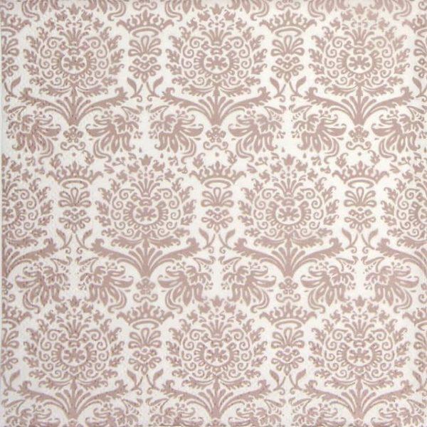 Paper Napkin - Royal Damask shiny rose'