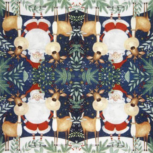 Lunch Napkins (20) -  Santa & Funny Reindeer
