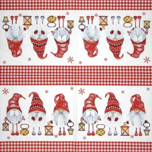 Paper Napkin - Scandinavian Gnomes