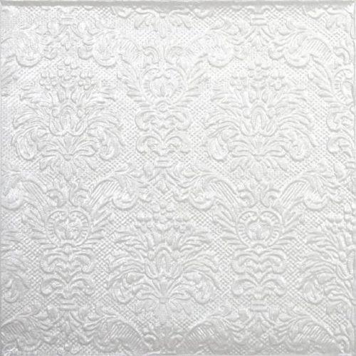 Lunch Napkins (15) - Embossed Elegance Pearl