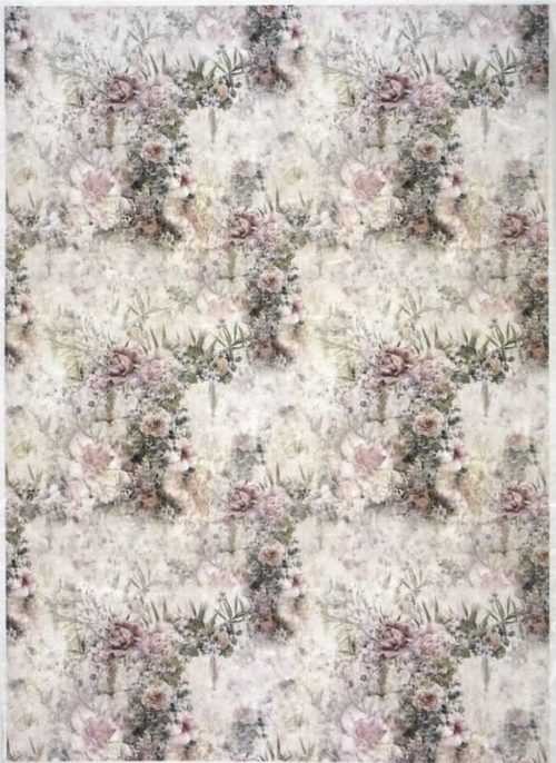Rice Paper - Pastel roses background