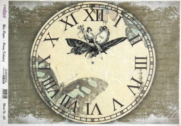 Rice Paper - Clock 1897