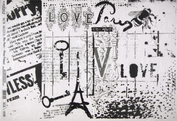 Rice Paper - Black/White Collage