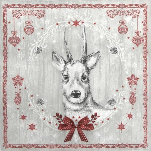 Lunch Napkins (20) - Shabby Wood Painted Deer
