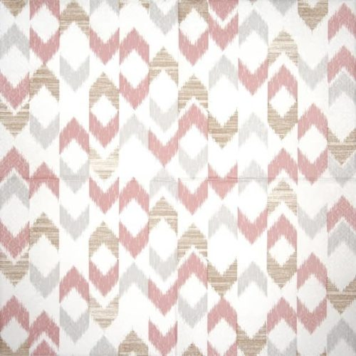 Lunch Napkins (20) - Bamboo ikat rose
