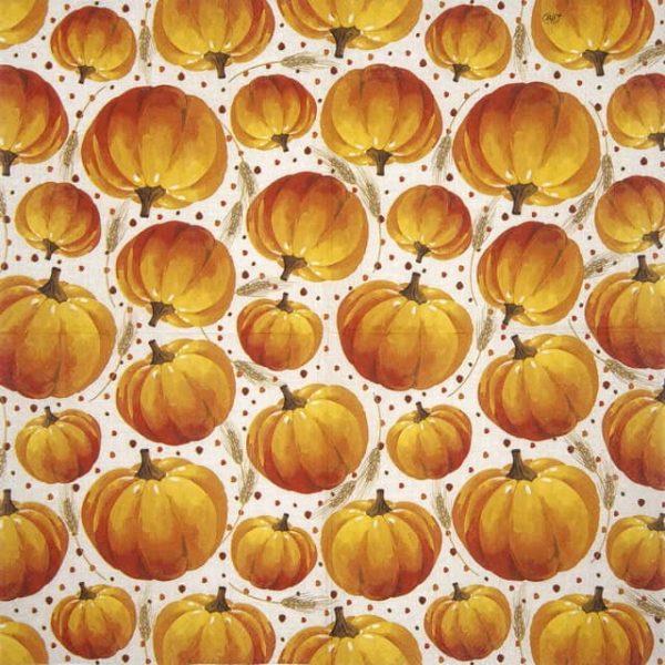 Cocktail Napkin - Pumpkin ALLOVER linen