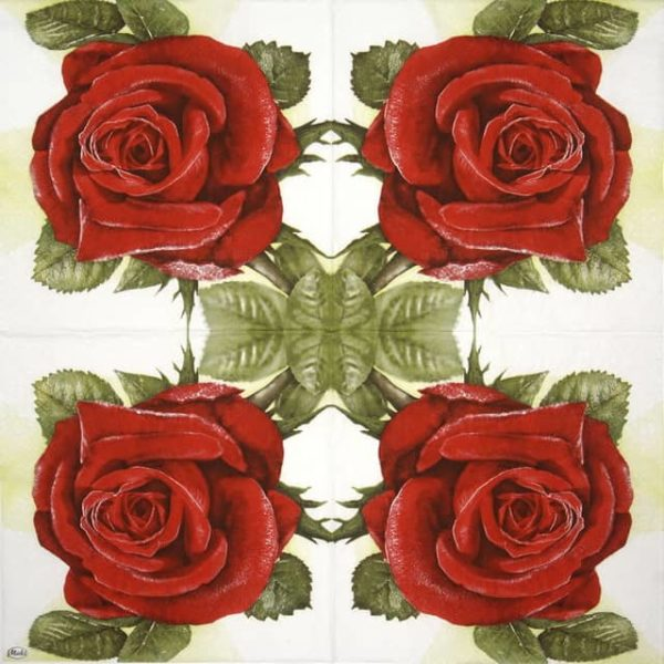 Paper Napkin - Big Red Rose