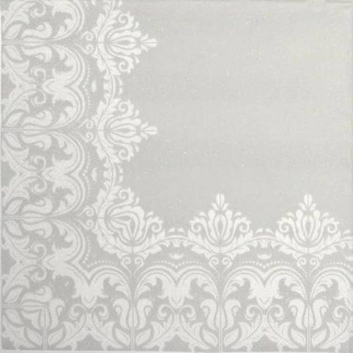 Paper Napkin - Ornament Border grey