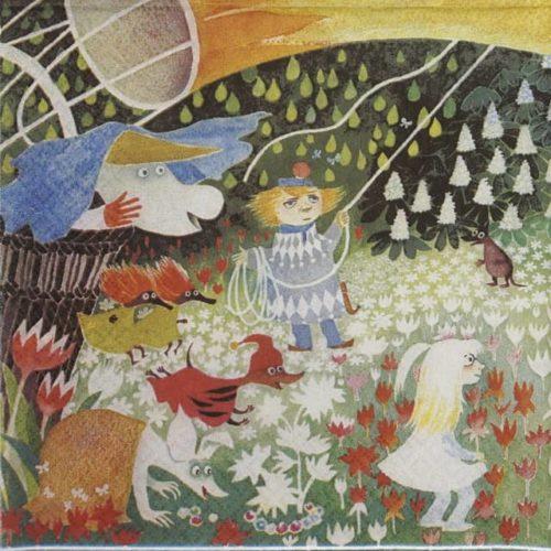 Paper Napkin -  Moomins In a Meadow