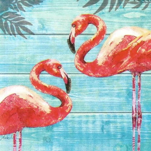 Paper Napkin - Summer Flamingos