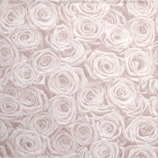 Lunch Napkins (20) -  Beaucoup de Roses shiny rosé