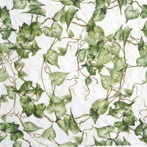 Cocktail Napkin - Green Ivy Branches