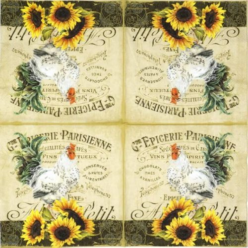Lunch Napkins (20) - Rooster & Sunflower