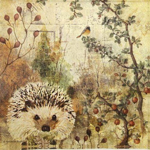 Paper Napkin - Autumn Hedgehog