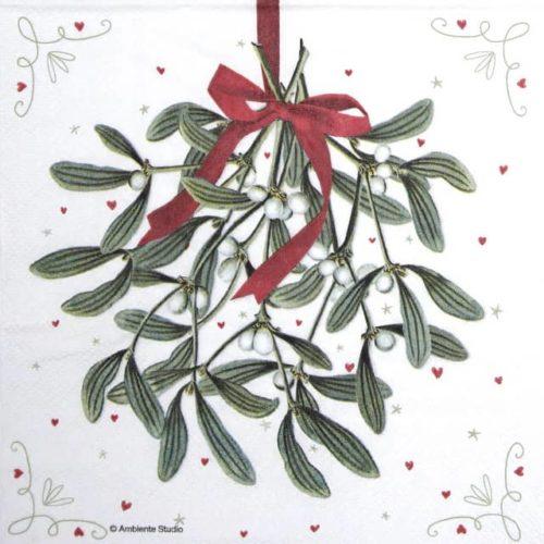 Lunch Napkins (20) - Mistletoe