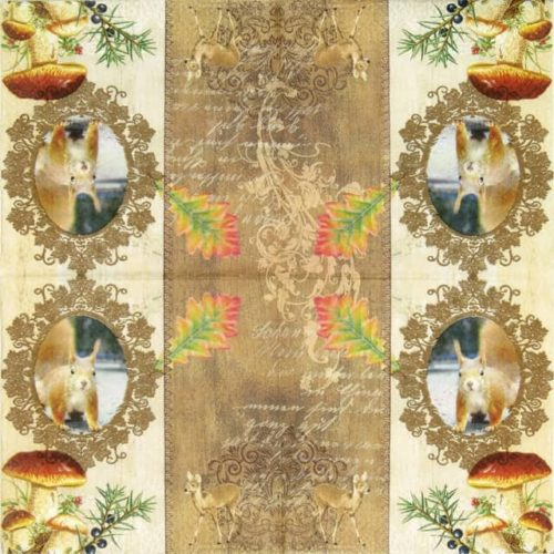 Paper Napkin - Autumn Greetings