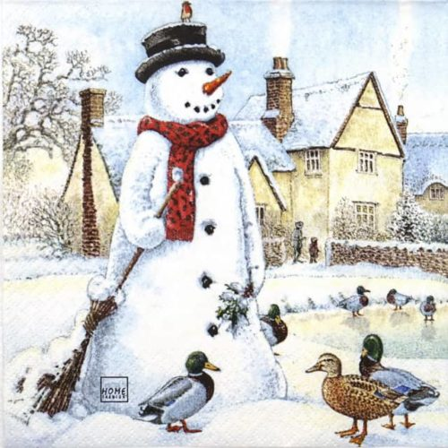 Lunch Napkins (20) - Jolly Snowman