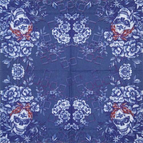 Cocktail Napkin - Catrina blue