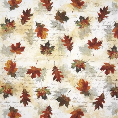 Cocktail Napkin - Falling Leaves