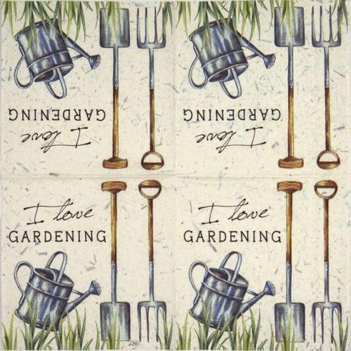 Cocktail Napkin - I love gardening
