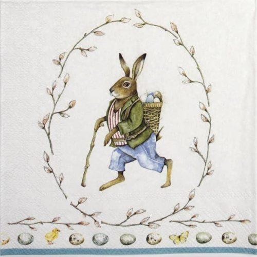 Paper Napkin - Edward-rabbit white