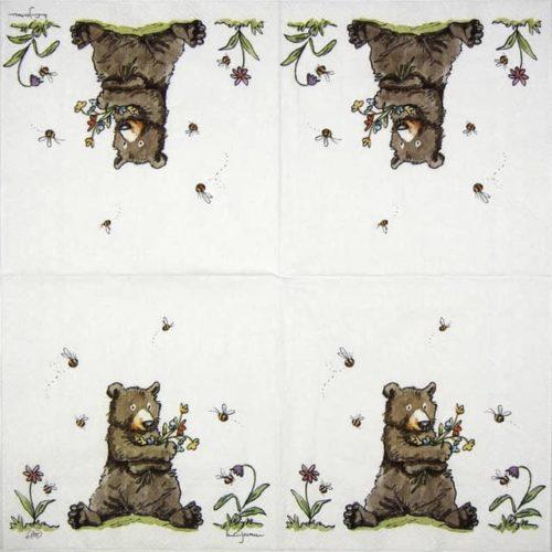 Paper Napkin - Anita Jeram: Honey bear