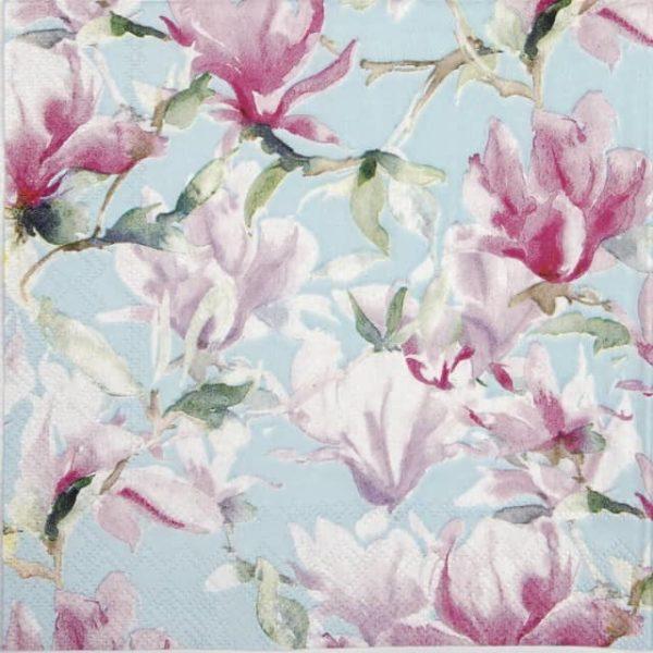 Paper Napkin - Magnolia Poesie blue