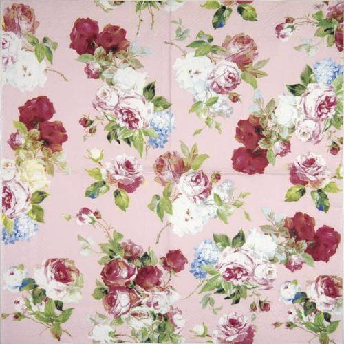 Paper Napkin - Scarlett light rose