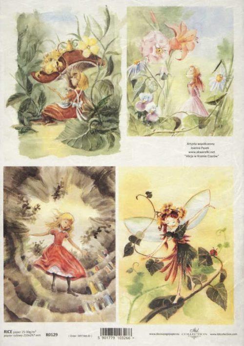 Rice Paper - Fairy tale in Garden