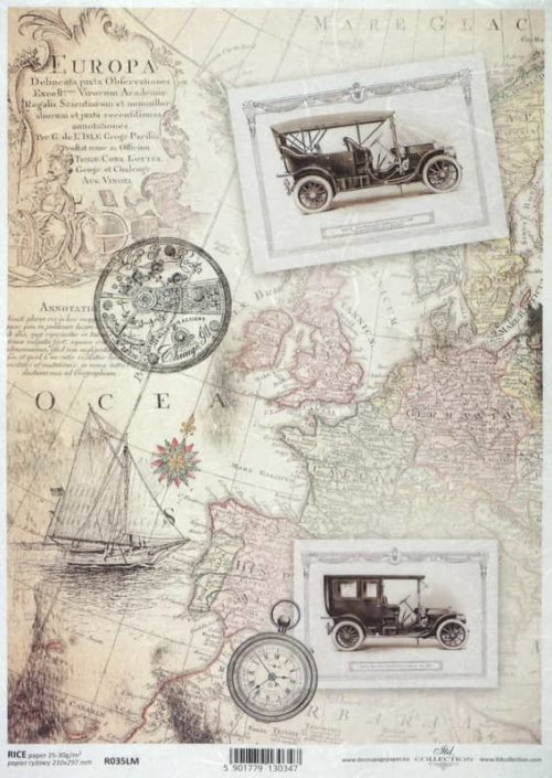 Rice Paper A/3 - Vintage Europa Map
