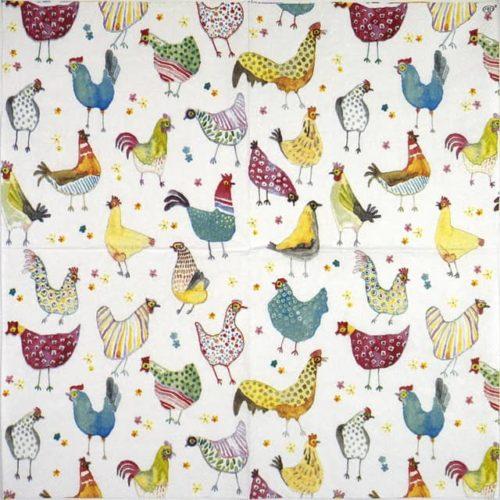 Paper Napkin - Jolly hens